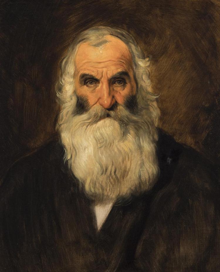 Hans Canon, Austrian (1829-1885), Self portrait, oil on canvas, 24 x 20 inches