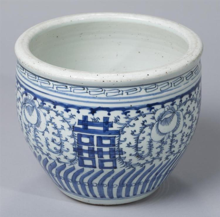 Chinese Export Blue and White Porcelain Small Fish Bowl