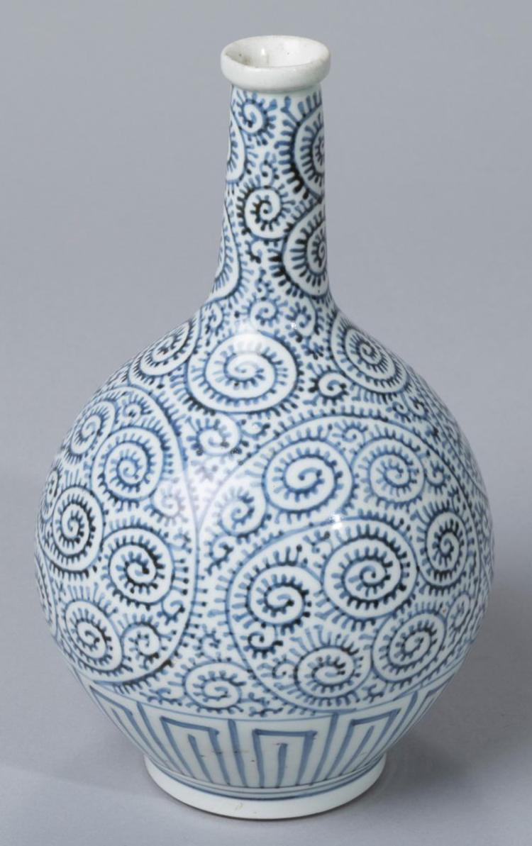 Imari Blue and White Bottle