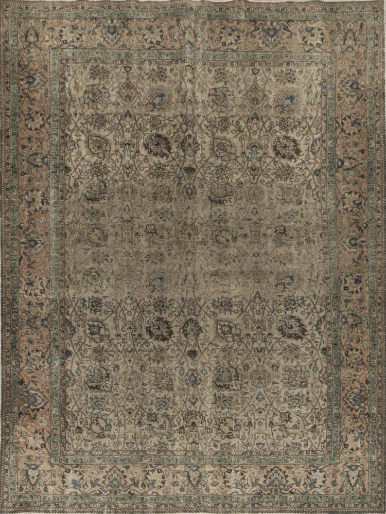 Semi-Antique Tabriz Room Rug