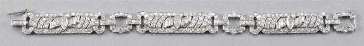 Vintage Platinum and Diamond Bracelet, Circa 1920-1940