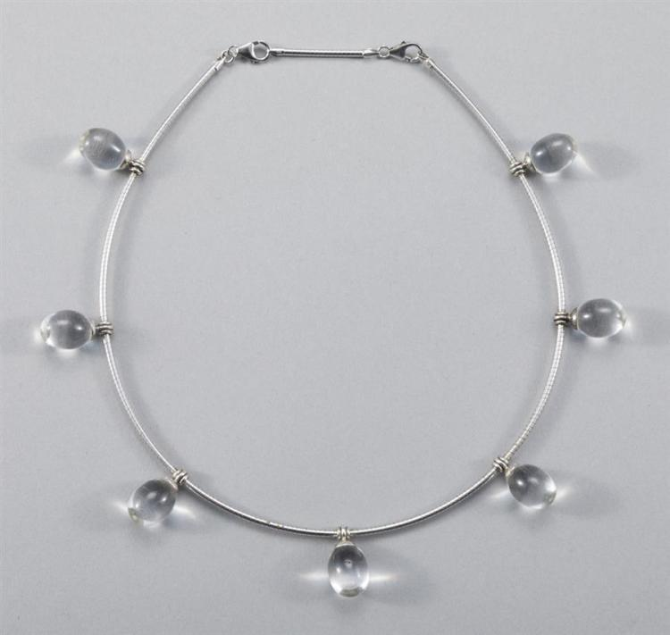 Baccarat Crystal and Sterling Silver Necklace