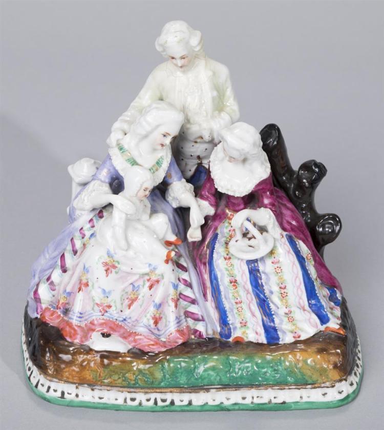 Continental Porcelain Figural Encrier