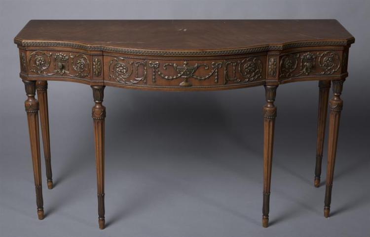 Early 1920''s Mahogany Console Provenance: Property from the Estate of Carl G. and Alma C. Stifel
