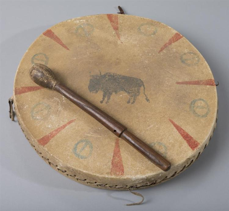 Native American Drum, and Drum Beater