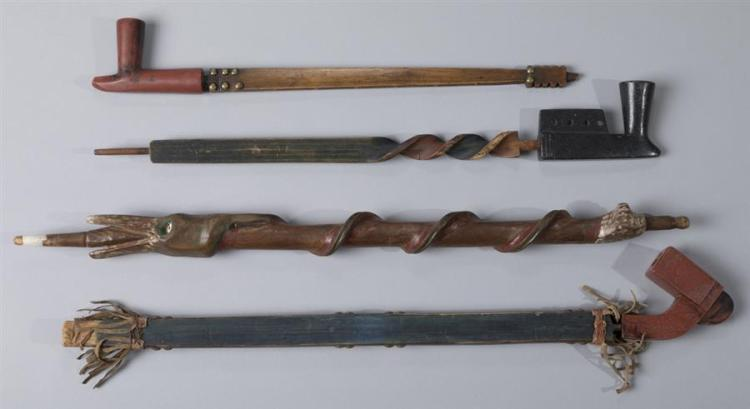 Four Antique Native American Pipes