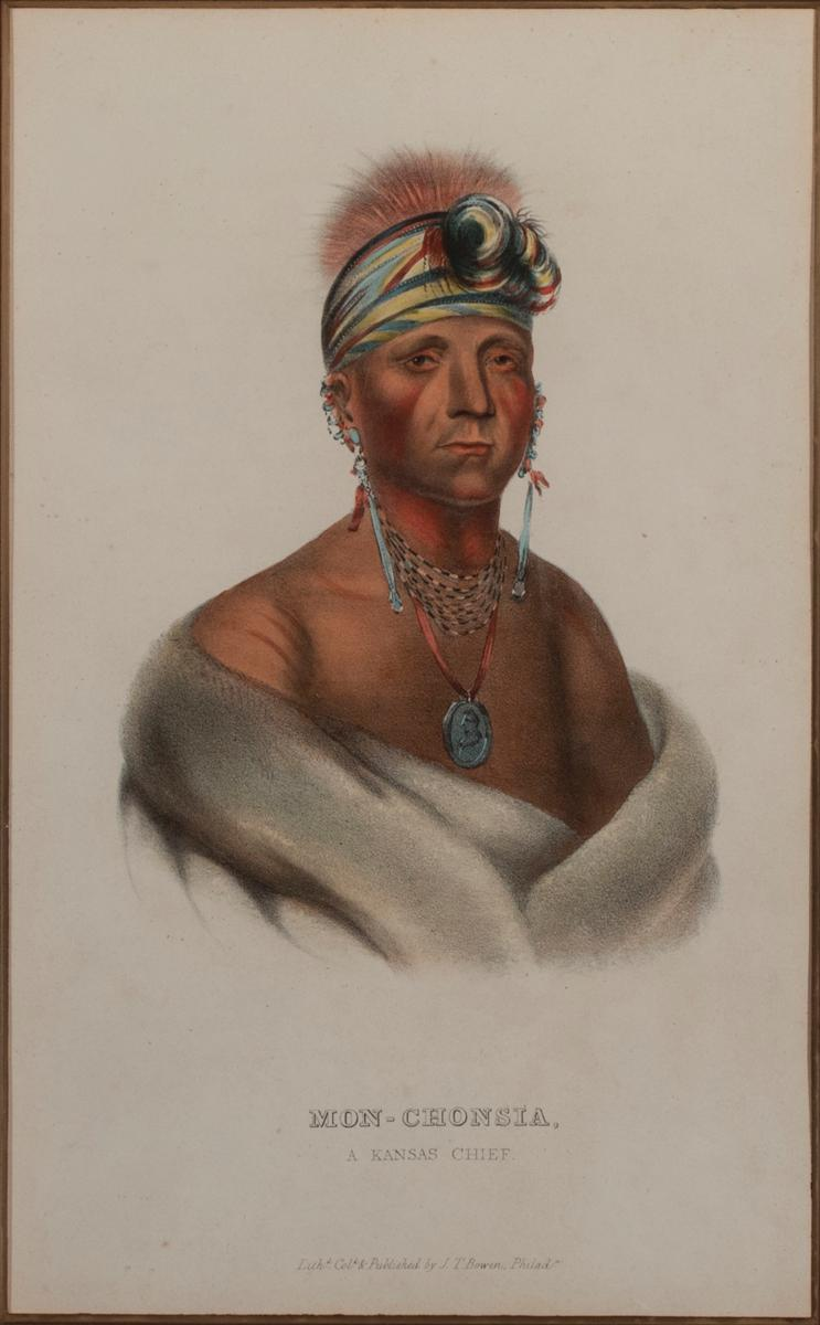From the Royal Ocatavo Edition of Thomas McKenney and James Hall (The History of the American Indian Tribes of North America), circa...