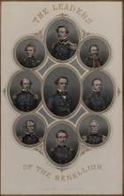 George E. Perine, New York: The Leaders of the Rebellion, hand colored engraving
