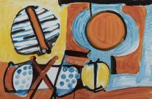 Leslie Laskey, American (20th century), Untitled, 1973, mixed media,