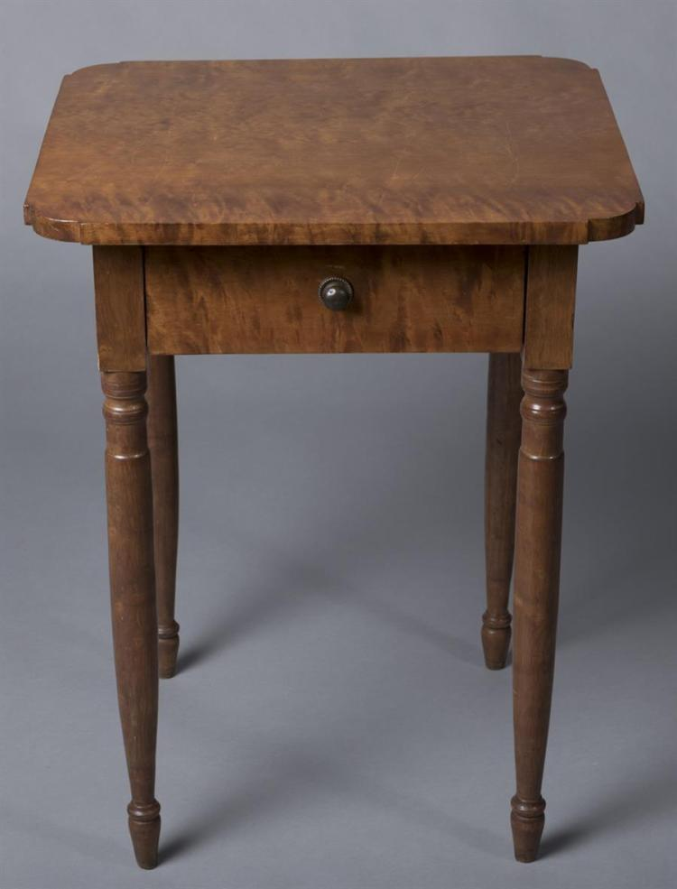 New England Figured Maple Sheraton Stand, circa 1800