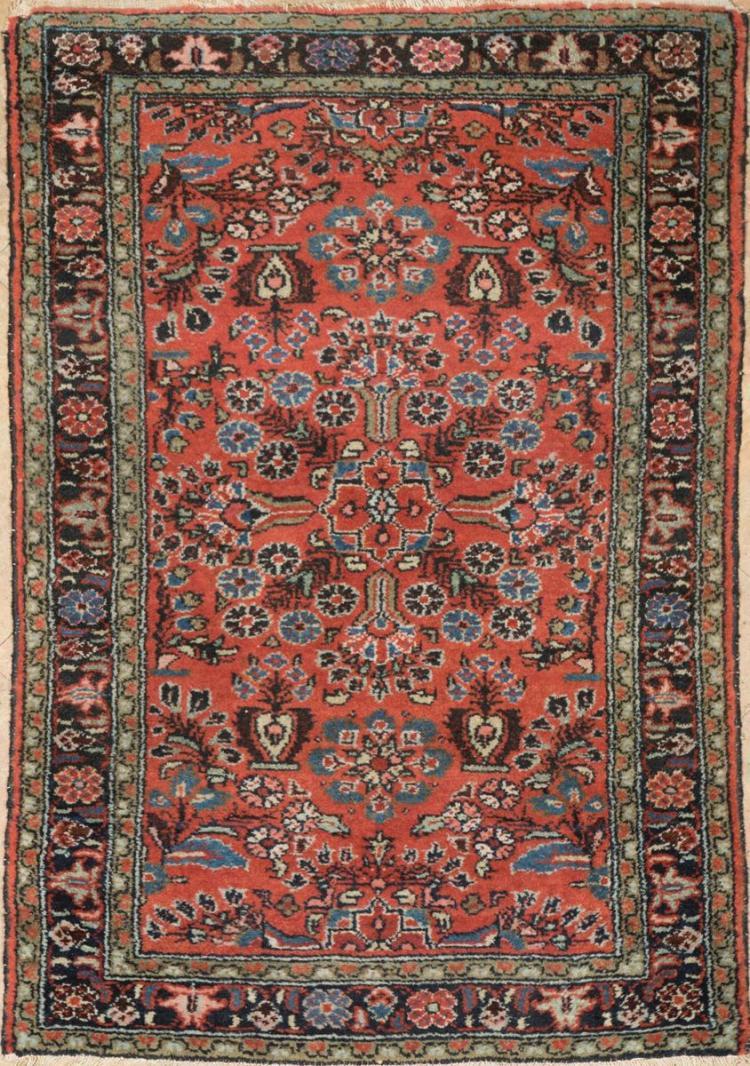 Antique Mehriban Throw Rug