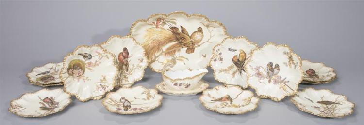 Lanternier, Limoges, Porcelain Game Set Property from the estate of Carl G. and Alma C. Stifel