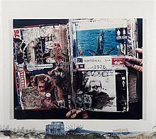 Peter Beard, American (b. 1938), Bicentennial, 1976, photo collage, 26 x 30 inches