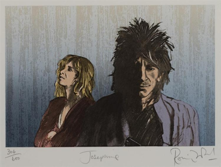 Ron Wood, Josephine, lithograph, edition 306/600,