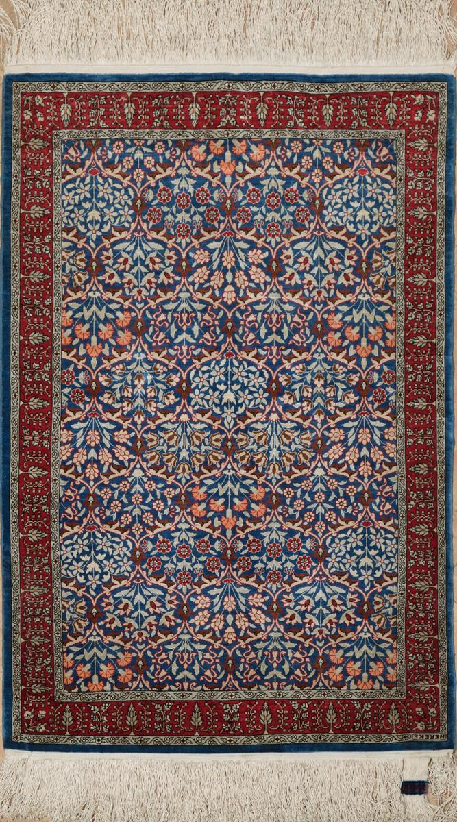 A Fine Turkish Silk Hereke Mat