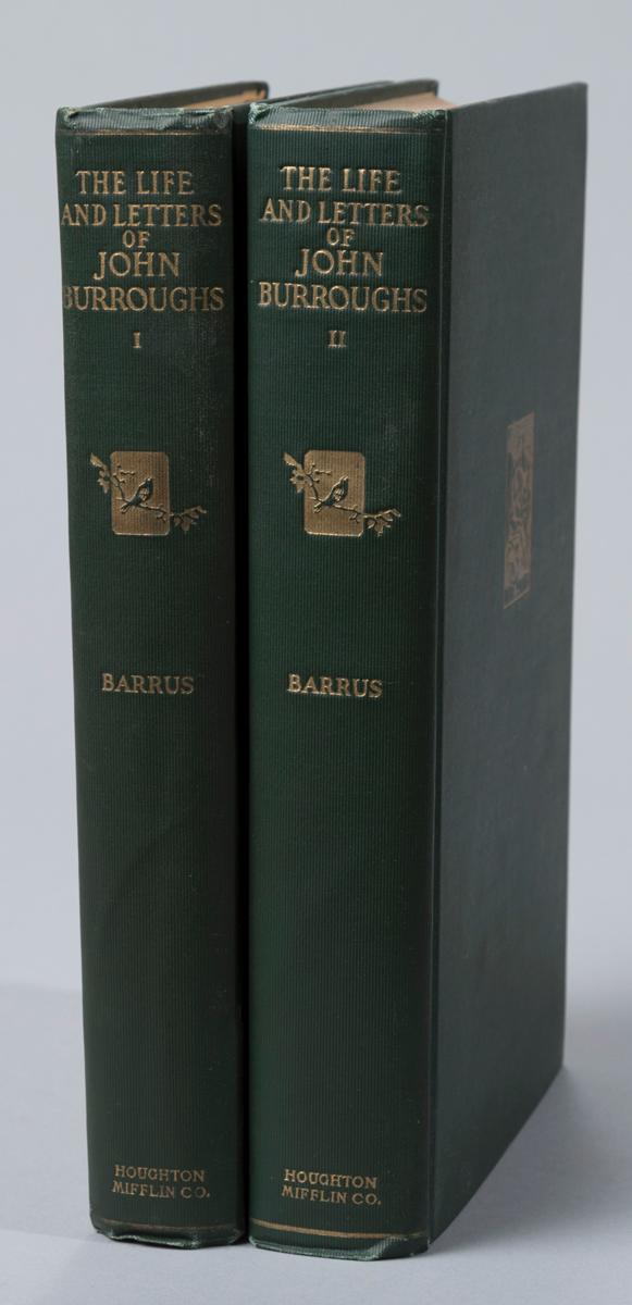 Barrus, Clara: Life and Letters of John Burroughs. Houghton Mifflin, 1925, first edition.