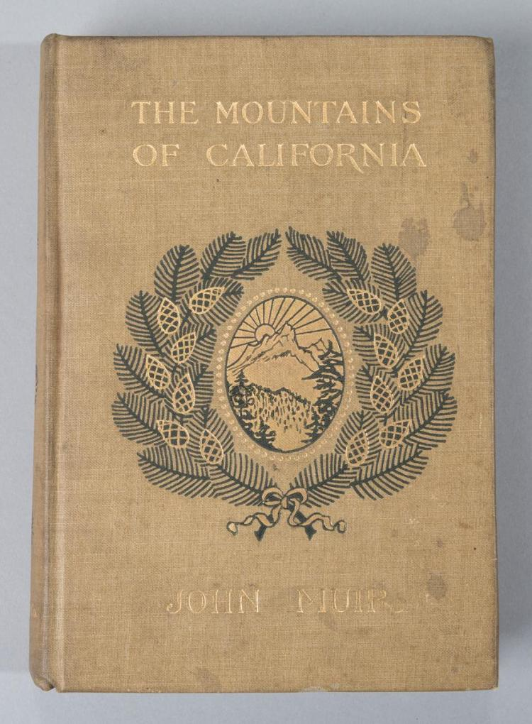 "Muir, John: The Mountains of California. NY, 1913; ""new and enlarged edition"" noted on the title page."