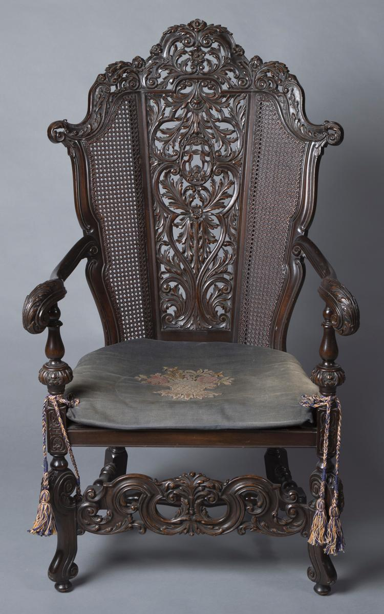 Baroque Design Open Armchair