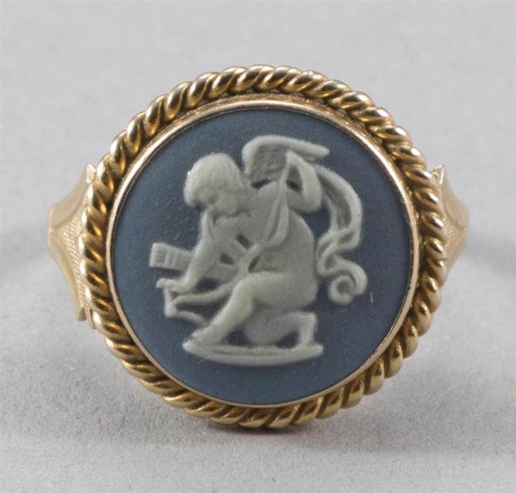 Lady''s Wedgwood 14K Yellow Gold Ring