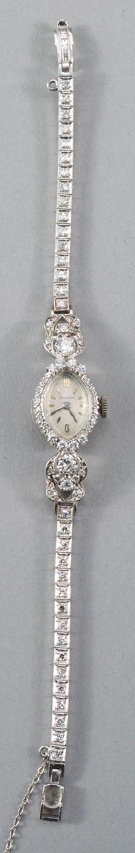 Lady''s Bulova Diamond Wristwatch, 1940''s to 1950''s