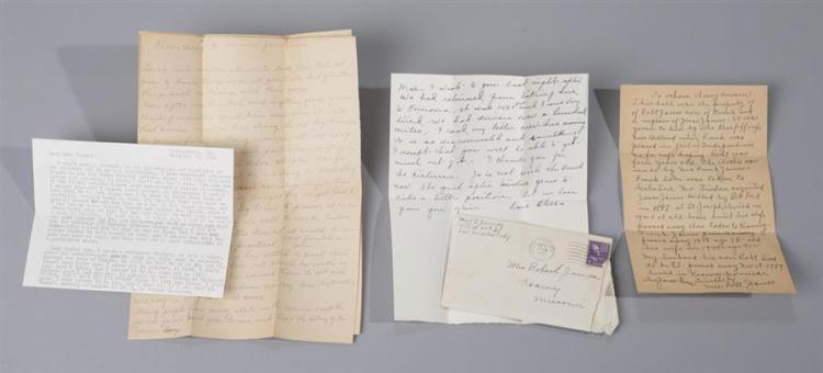 Collection of letters and photographs relating to Jesse James