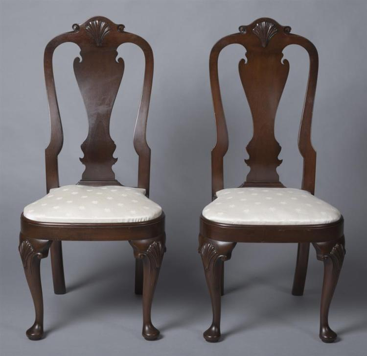Six Side Chairs in The Colonial Queen Anne Style