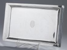 Reed & Barton Art Deco Sterling Silver Tray Property from the estate of Carl G. and Alma C. Stifel.