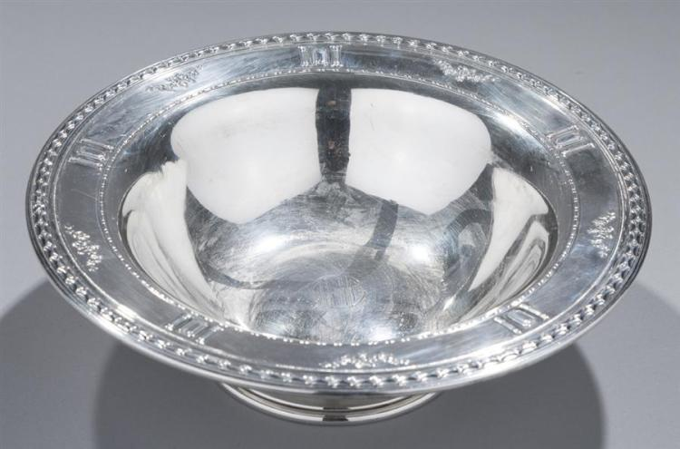 Matthews Co., Newark, Sterling Silver Bowl, CARTIER pattern Property from the estate of Carl G. and Alma C. Stifel.