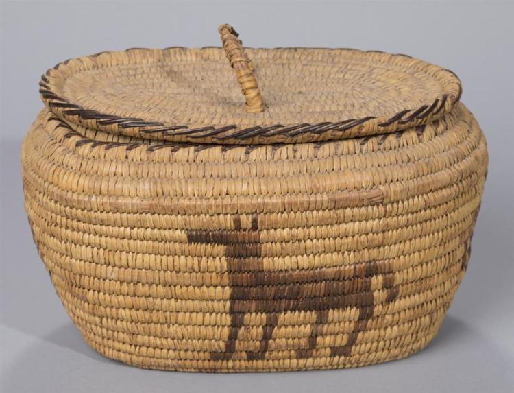 Native American Papago Coiled basket