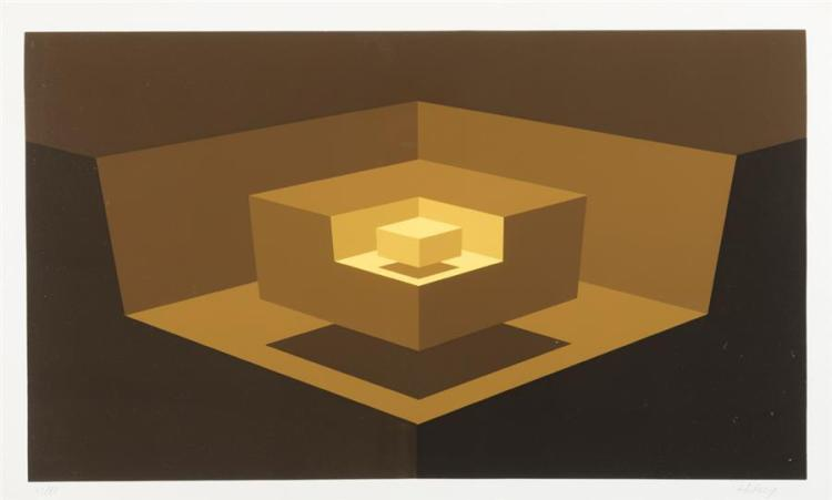 Brian Halsey, American (b. 1942), Untitled geometric abstraction, serigraph, 13 1/4 x 23 1/4 inches