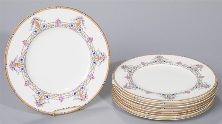 Nine Royal Worcester Porcelain Dinner Plates