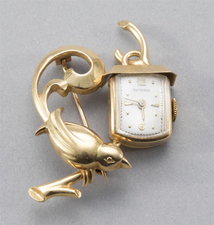 Lapel Watch, 18k Gold