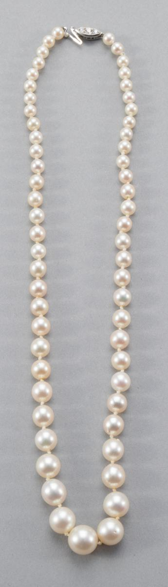Graduated Cultured Pearl Necklace, 17 Inches