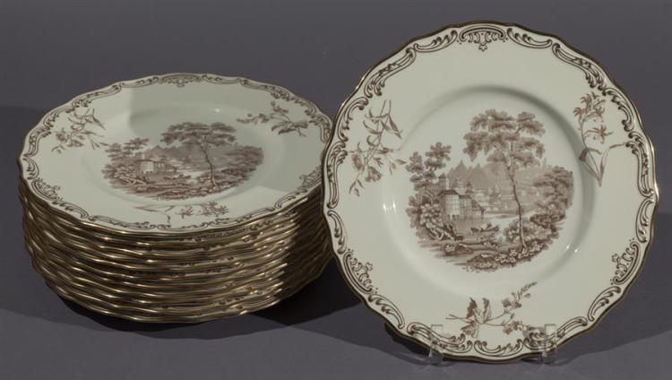 Twelve Copeland Porcelain Display Plates