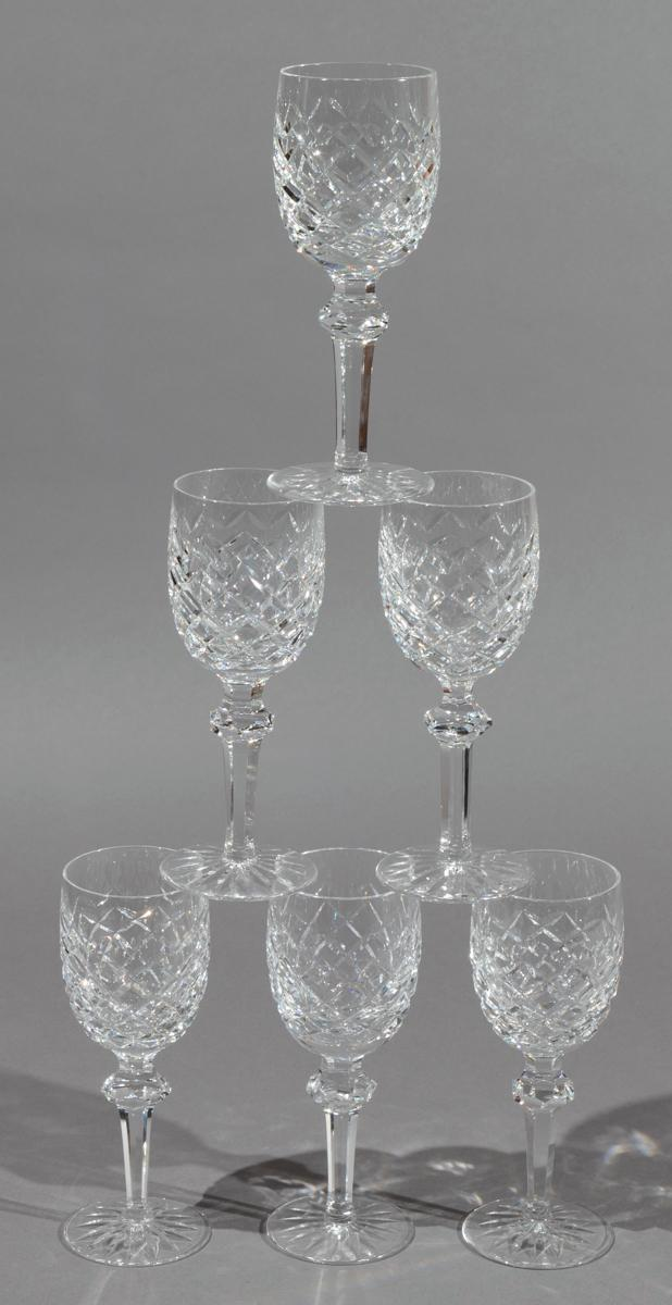 Twelve Waterford Wine Goblets, POWERSCOURT pattern