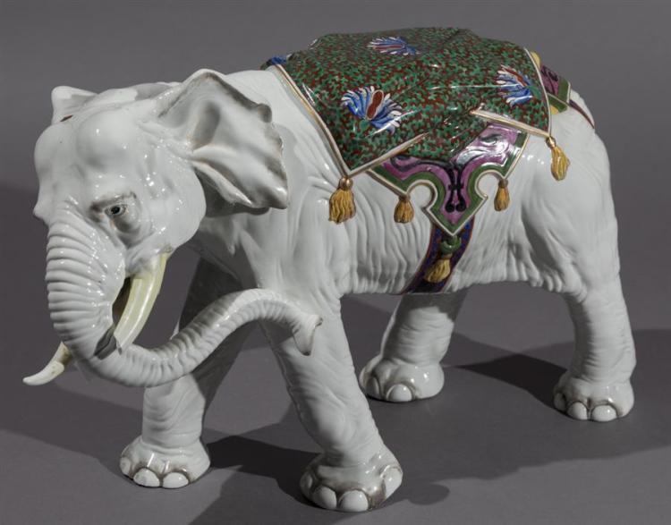 Large Continental Porcelain Elephant