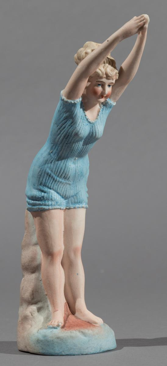 Continental Hand Painted Bisque Bathing Beauty Figurine