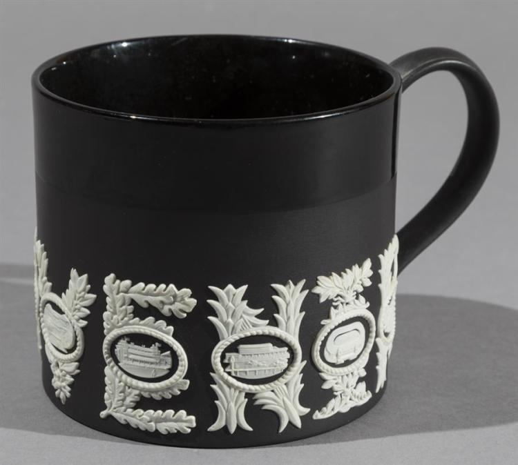 Wedgwood Black Jasperware Sporting Mug