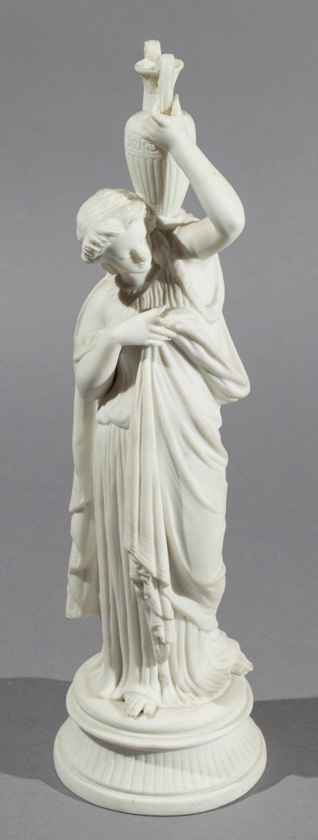 Parian Ware Sculpture of Classical Female with Urn