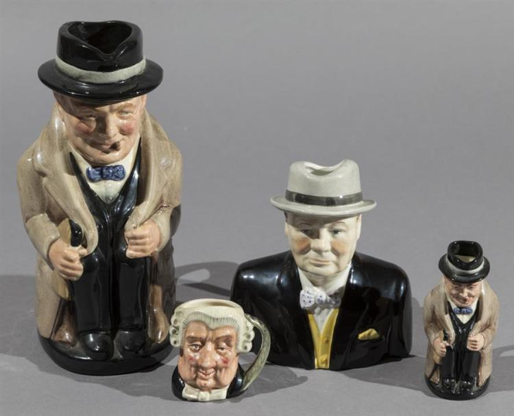 Four English Toby and Character Jugs