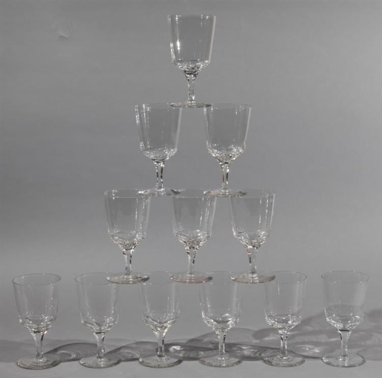 Twelve Crystal Water Goblets