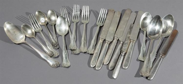 Gorham Sterling Silver LANCASTER Pattern Forks and Spoons Property from the estate of Carl G. and Alma C. Stifel.