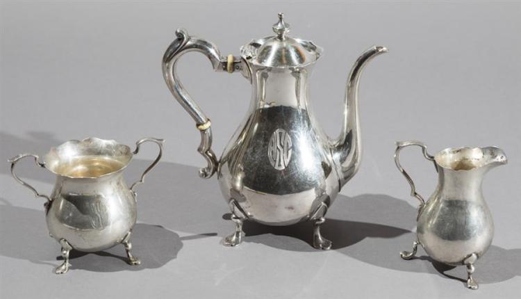 Gorham/Durgin Sterling Silver Demitasse Coffee Set Property from the estate of Carl G. and Alma C. Stifel.