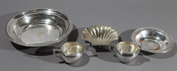 Group of American Sterling Silver Table Articles Property from the estate of Carl G. and Alma C. Stifel.