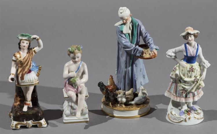 Collection of Four Continental Porcelain Figurines