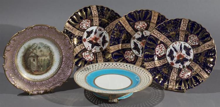 Five Pieces Antique English Porcelain and Pottery