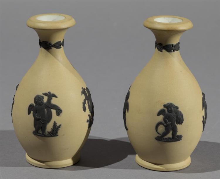 Pair of Wedgwood Jasperware Miniature Vases