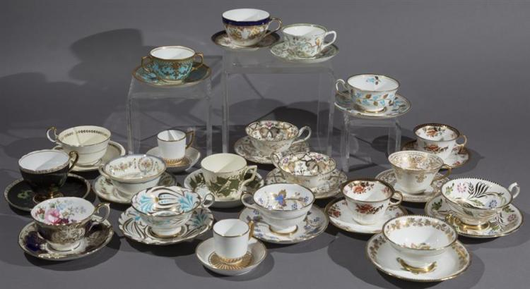 Collection of Good English Porcelain Cups and Saucers
