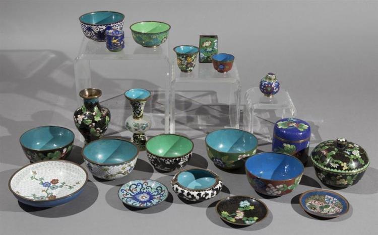 Extensive Collection of Chinese Cloisonne Articles