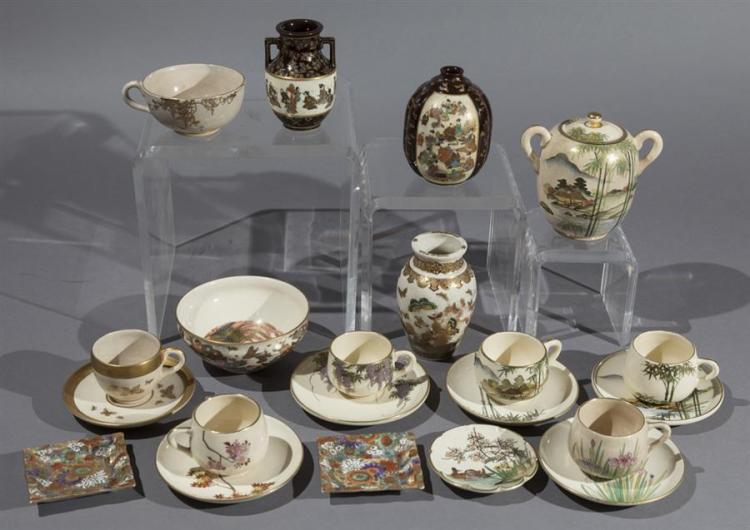 Large Collection of Japanese Satsuma Pottery